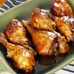 Spicy, Sweet And Sticky Chicken.