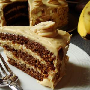 Butterscotch Banana Cake.