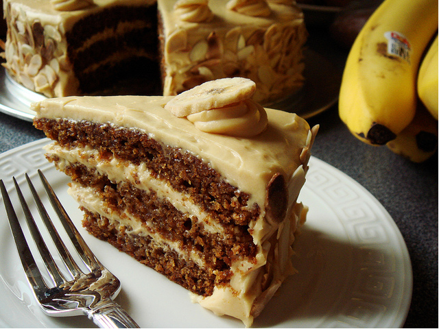 Butterscotch Banana Cake.