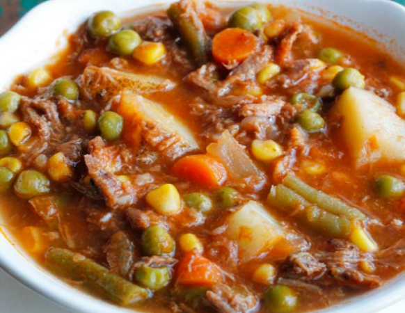 Old Fashioned Vegetable Beef Soup Is One Of My All-Time Favorite