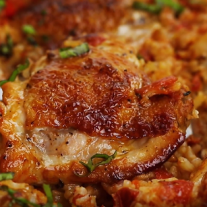 Oven Baked Chicken and Rice