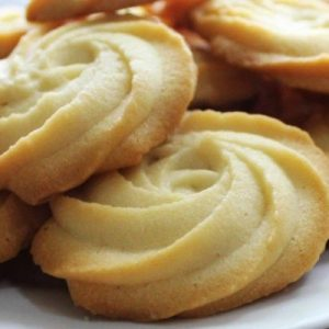 Eggless Melt in Your Mouth Butter Cookies.