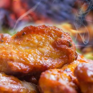 Sweet And Spicy Crock Pot Sticky Wings.