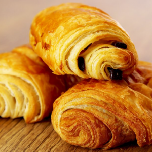 Flakey Croissant Filled With Dark Chocolate