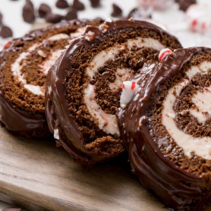 A Delicious Cream Cheese Hot Chocolate Cake Roll