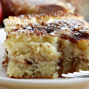 Cinnamon Swirl Apple Coffee Cake