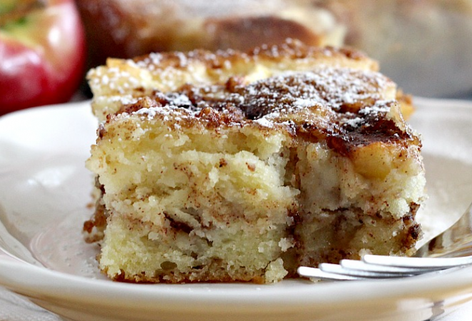 Cinnamon Swirl Apple Coffee Cake