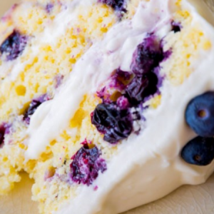 Lemon Blueberry Layer Cake