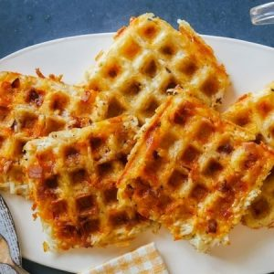 These Waffles Are Crispy On The Outside And Fluffy On The Inside.