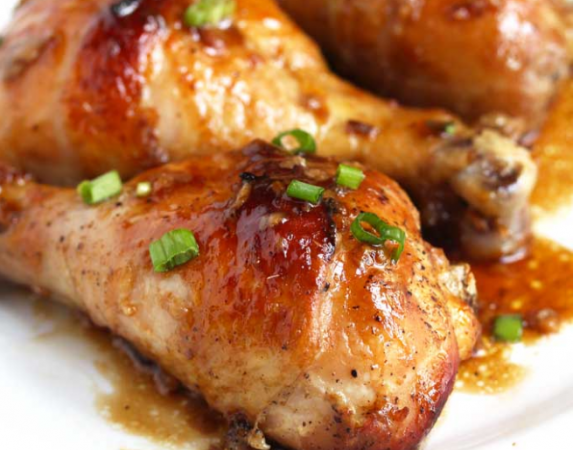 Baked Chicken Drumsticks in Honey and Soy