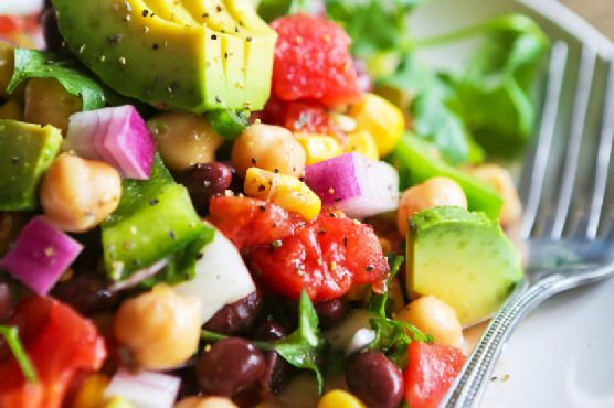 This Versatile Veggie Salad With Black Beans is EASY To Make.