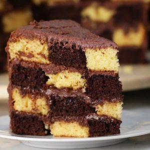 Checkerboard Cake Recipe
