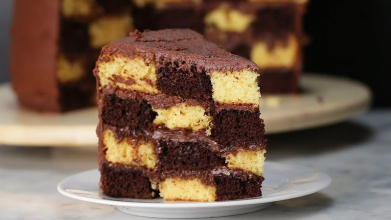 Checkerboard Cake Recipe