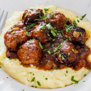 Meatballs and Mashed Potatoes