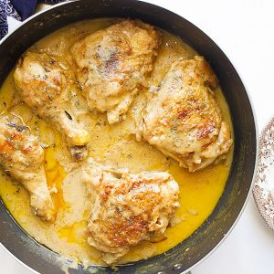 Chicken Smothered In A Decadent Bacon Gravy