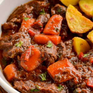 A Delicious Bowl Of Balsamic Braised Beef