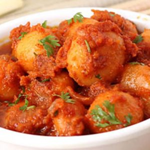 Spicy Baby Potatoes with Garlic