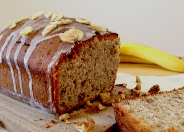 Moist Banana Walnut Cake