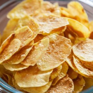 Crispy Microwave Potato Chips