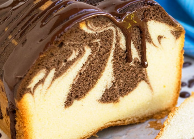 The Best, Classic and Easy Marble Cake
