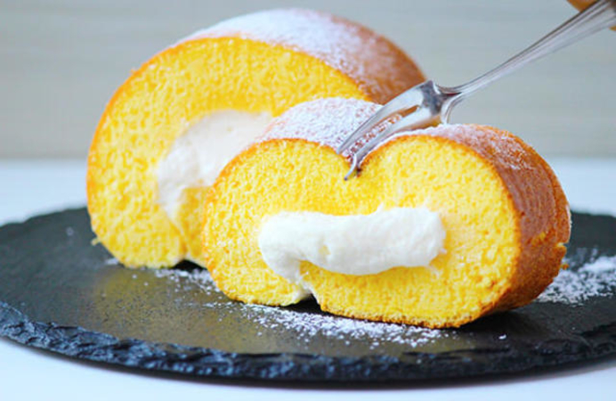 Swiss Roll Cake In a Frying Pan