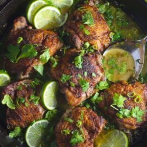 Garlic Chicken With Lime