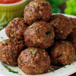 Italian Herb Baked Meatballs