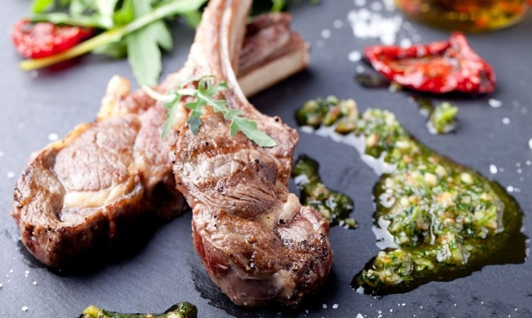 Grilled Lamb With Herb Rub