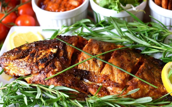 Spicy Oven Grilled Fish
