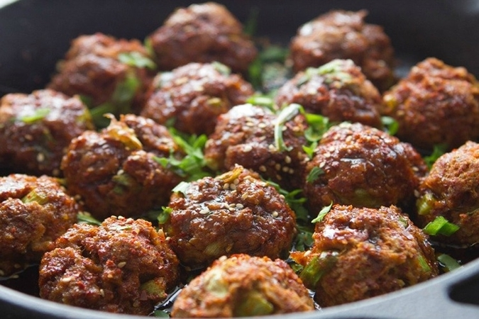 Easy Baked Chicken Meatballs