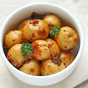 Honey Mustard Roasted Potatoes
