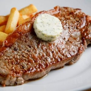 Pan-fried Rib-eye Steak