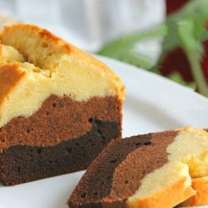 Three-layer Chocolate Pound Cake