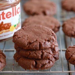 Thick and Chewy Nutella Cookies