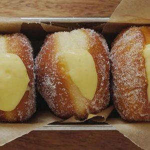 Vanilla Custard Cream-filled Doughnut