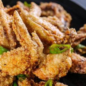 Ginger Green Chili Chicken Wings