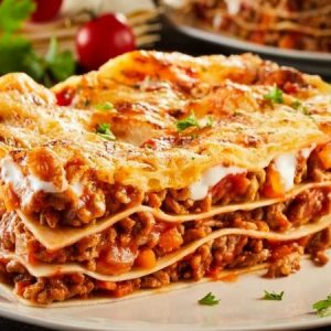Classic and Simple Beef Lasagna
