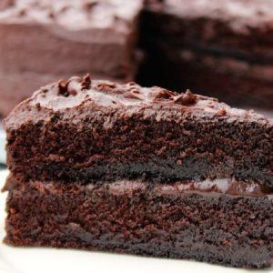 Ultra-moist, Ultra Fudgy Chocolate Cake