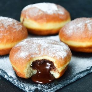 Chocolate-Filled Donuts