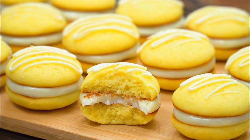Delicious Lemon Biscuits with Filling