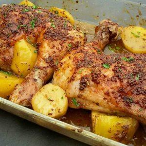 Honey Mustard Roasted Chicken