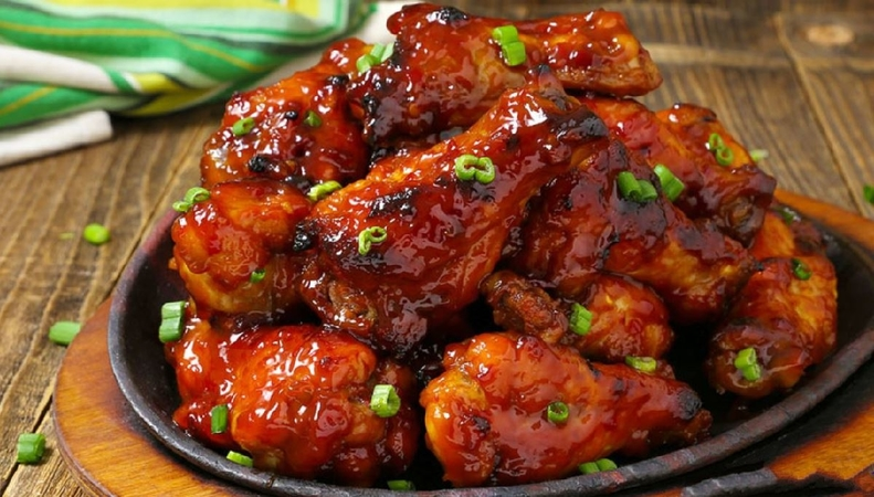 Slow Cooker Sweet and Spicy Wings