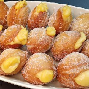 Vanilla Cream-Filled Doughnut