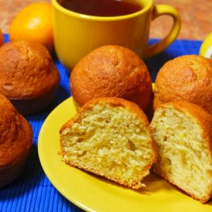 Super Moist, Tender Lemon Muffins