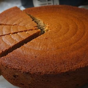Eggless Whole Wheat Vanilla Cake