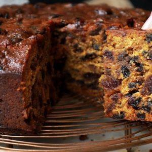 Moist, Mixed Fruit Cake Recipe