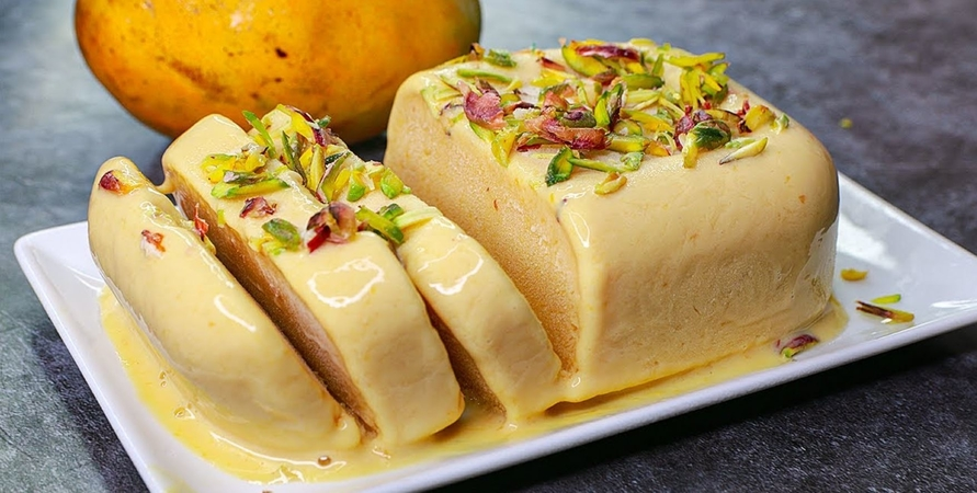 3 Ingredients Mango Ice Cream Recipe