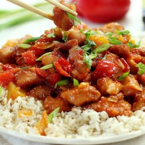 Stir Fry Chicken With Ginger And Spring Onion