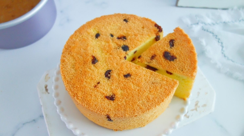 Ultra Soft and Moist Cranberry Cake