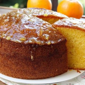 Orange Cake With Freshly Squeezed Orange Zest